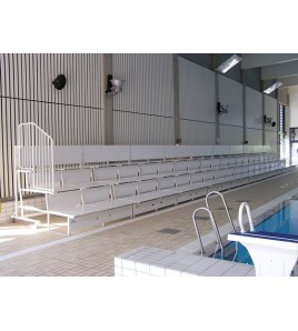 Tribunes relevables 4 rangs - piscine