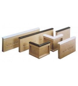 ACO SPORT ® bordures de délimitation d'aires de sable à rebords souples - Coins 90° longueur 25/25 cm, poids 8,7 kg blanc