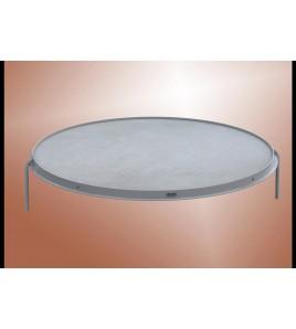 Cercle de lancers aluminium Ø 2,50 m, hauteur 70 mm disques