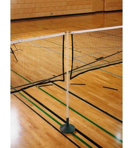 Filets de badminton assemblés sur câble - 4 x Filets 207119-3