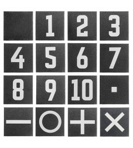 Dalle numérotée n°6