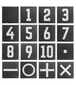 Dalle numérotée n°7