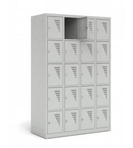 Vestiaire Armoire combiné sur banc - Gamme 1 casier par colonne - Modèle 3 colonnes