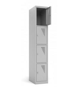 Vestiaire Armoire 4 casiers par colonne - Modèle 1 colonnes - 4 casiers