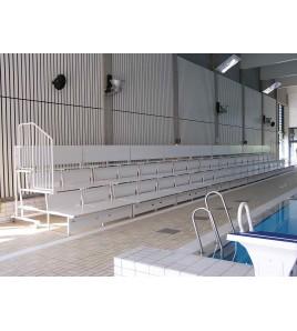 Tribunes relevable 2 rangs - piscine