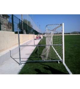 But de football rabattable A8 aluminium réglable 160 - 210 cm SANS oreilles