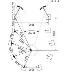 Filet pour cage de disque hauteur 7/10 m