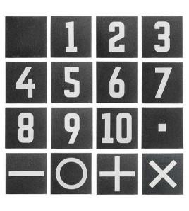 Gymfloor RTS - Dalle noire numérotées n°1