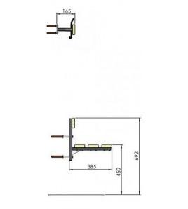 Lisse porte-patère inversée XP - Le mètre linéaire.
