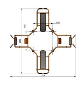 WO Station dorsale 4 postes