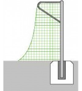 Filet de Football à 11 - La Paire, dimensions 7,32 x 2,44 ml, maille 120 mm