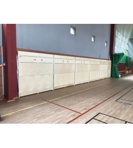 Tribunes murales relevables 3 rangs