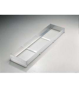 Cadre de planche d'appel - Dimensions : 122 x 30 cm, hauteur 10 cm