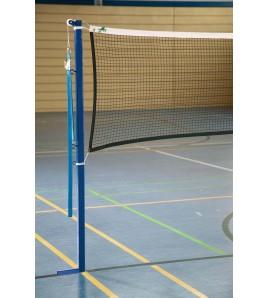 Poteaux de badminton à hauteur fixe en fourreaux