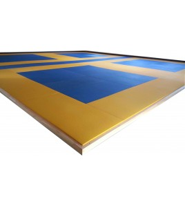 Tatamis compétition 230kg/m3 avec dessous nu 5 cm
