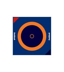 Toile de lutte dim. 12 x 12 ml. Couleurs Noir/Orange/Bleu