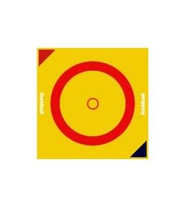 Toile de lutte dim. 12 x 12 ml. Couleurs Jaune/Rouge/Jaune