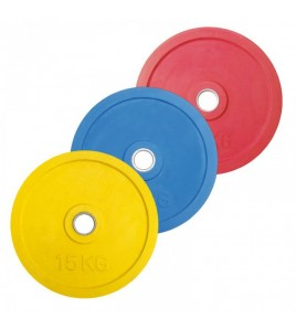 Disques caoutchouc Bumper couleur ø 51 mm - Poids 20,00 kg - largeur 26 mm