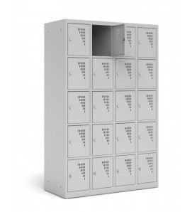 Vestiaire Armoire 5 casiers par colonne - Modèle 4 colonnes - 15 casiers