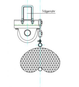 Filets/Rideaux séparation mixte manuel sur rail