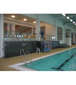 Tribunes relevable 2 rangs - piscine