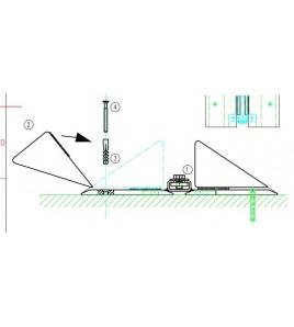 Rail Mural VersoNet avec dispositif de tension à vis sans fin