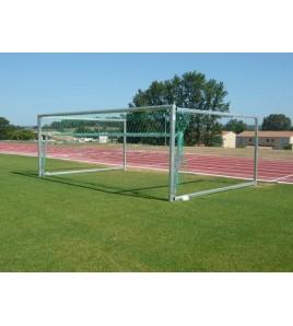 But de Football A8 Rabattable Erhard SUPER SPECIAL avec cadre de levage de filet intégré -Profondeur 220 à 350 cm